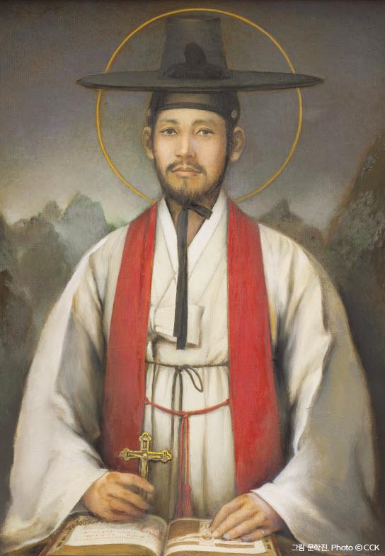 성 김대건 신부님 상본
